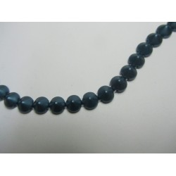 Tipp Beads  8 mm Pastel Petrol -  10 pcs