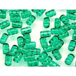 Perline Rulla  3x5 mm Emerald -  10 g