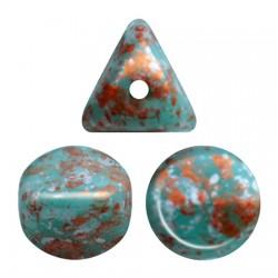 Ilos® par Puca® 5x5 mm Opaque Green Turquoise Bronze - 10 g
