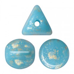 Ilos® par Puca® 5x5 mm Opaque Blue Turquoise Bronze - 10 g