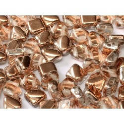 Perline Silky 6x6 mm  Crystal  Capri Gold -  30 pz
