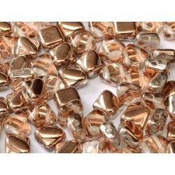 Silky Beads  6x6 mm  Crystal  Capri Gold-  30 pcs