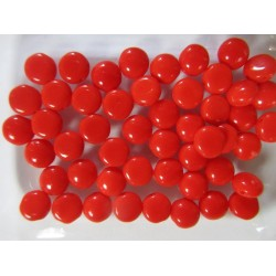 Candy Beads  8  mm Opaque Red  - 20 pz