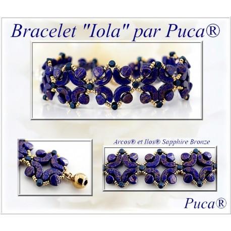 Kit Bracciale Iola  By Puca  versione Blu/Oro  (kit materiali)