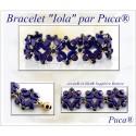 Iola  Braceket  Kit  By Puca  Blue/Gold  version  (material kit)