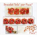 Kit Bracciale Iola  By Puca  versione Light Coral/Oro  (kit materiali)