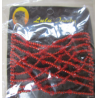 Magic Hair Comb with Glass Seed Beads  90x80 mm, Red  1 pc