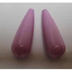 Goccia Resina  35x12 mm Rosa/Lilla  -  2 pz