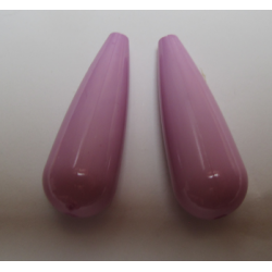 Resin Drop 35x12 mm  Rose/Lilac -  2 pcs