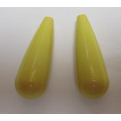 Goccia Resina  35x12 mm Giallo -  2 pz