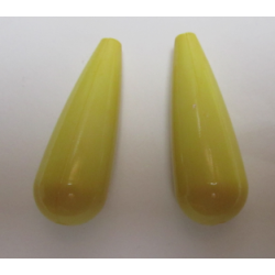 Resin Drop 35x12 mm  Giallo  -  2 pcs