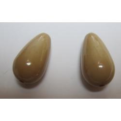 Goccia Resina  28x15 mm Beige Scuro  -  2 pz