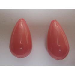 Goccia Resina  25x13 mm Rosa Salmonato  -  2 pz
