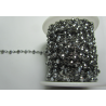 Rosary Chain  Gunmetal  Color,  Hematite   Faceted Oval Beads 4x3 mm - 50 cm