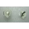 Perno Acciaio  Fiore Filigrana  15 mm   con farfallina -  2 pz
