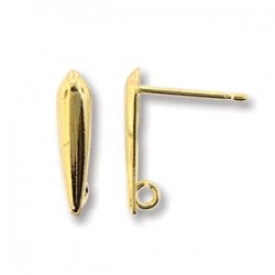 Earstud Dagger Shape mm, Gold Tone - 2 pcs