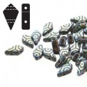 Kite Beads  9 x 5 mm   Jet Laser Web - 5 g