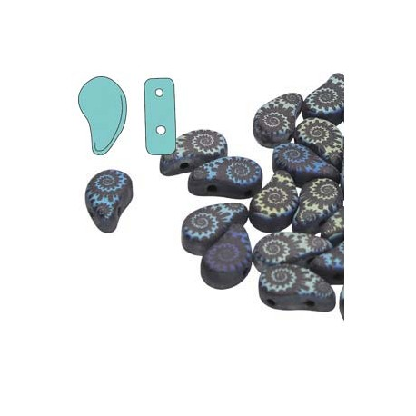 Paisley  Duo  8x5 mm  Jet Laser Shell  -  5 g