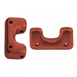 Telos® par Puca®  12x6 mm Bronze  Red Mat  - 10 pcs