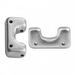 Telos® par Puca®  12x6 mm  Silver Alluminium Mat  - 10 pcs