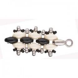 Cymbal Vourkoti Terminale per Superduo Color Argento Anticato  - 2 pz