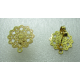 Stainless Steel  Flower Ear Stud 15 mm   Openwork, Shiny Gold  with Ear nut -  2 pcs