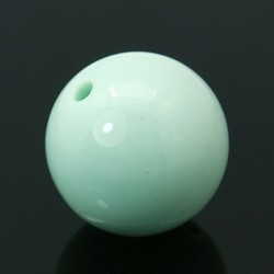 Acrylic Round Bead  22 mm  Pale Turquoise - 1 pc