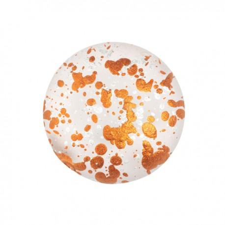 Cabochon par Puca®  18 mm Happy Festive Season Collection  Limited Edition Crystal Mat Bronze   - 1  pz