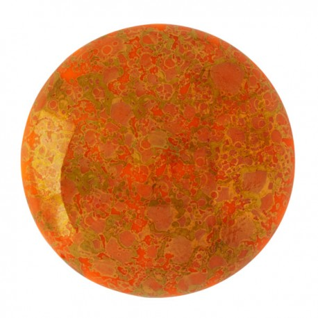Cabochon par Puca® 25 mm Happy Festive Season Collection Limited Edition Opaque Coral Red Bronze - 1 pc