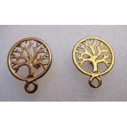 Zamak Arborvitae Ear Stud 19x24 mm Gold/Bronze Color - 2 pcs
