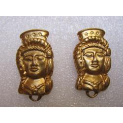 Perno in Zama Mezzo Busto Donna 30x16 mm Color Oro Opaco - 2 pz