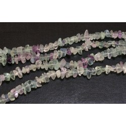 Natural Fluorite Chips  5-8mm - 1 Strand about 90 cm long
