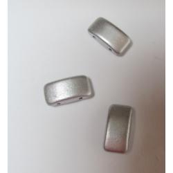 Carrier Beads 17 x 9 mm Alluminum Silver - 5 pz