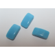 Carrier Beads 17 x 9 mm Opaque Turquoise Blue - 5 pz