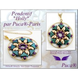 Holly Pendant Kit By Puca - (material kit)