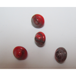 Bicone/Whirlgig Bead 10 x 8 mm Red Mottled - 4 pcs