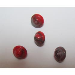 Perle forma Trottola/Bicono 10x8 mm Rosso Variegato - 4 pz