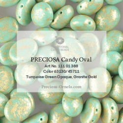 Candy Oval Beads 6x4 mm Vintage Copper - 20 pcs
