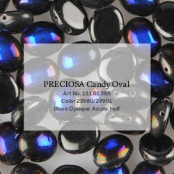 Candy Oval Beads  8x6  mm  Crystal Amber  -  20 pcs