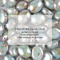 Candy Oval Beads 8x6 mm Jet Azuro - 20 pcs