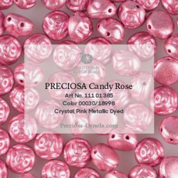 Candy Rose Beads 8 mm Silver Metallic Dyed - 10 pz
