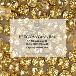 Candy Rose Beads 8 mm Violet Metallic Dyed - 10 pz