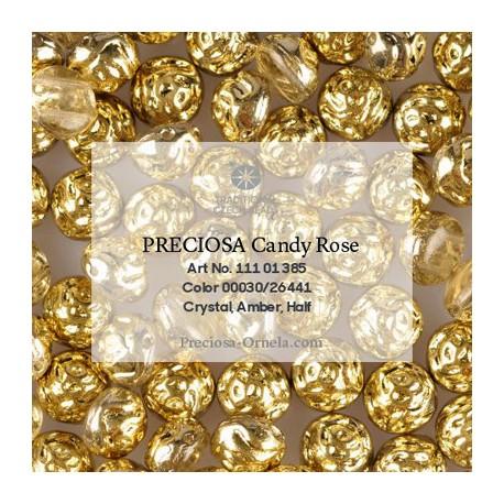 Candy Rose Beads 8 mm Violet Metallic Dyed - 10 pcs