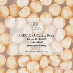 Candy Rose Beads 8 mm Alabaster AB Pink Painted - 10 pz