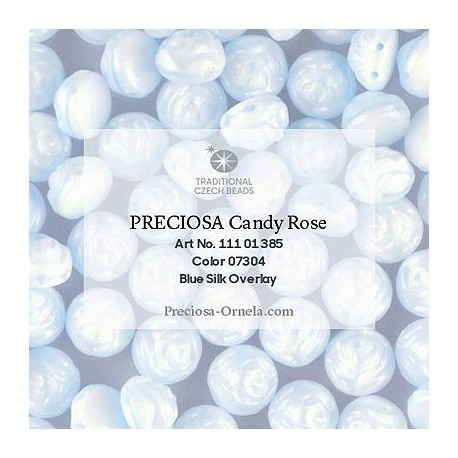 Candy Rose Beads 8 mm Beige Silk Overlay - 10 pcs