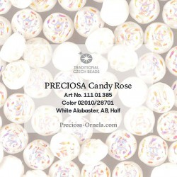 Candy Rose Beads 8 mm Crystal Amber - 10 pz