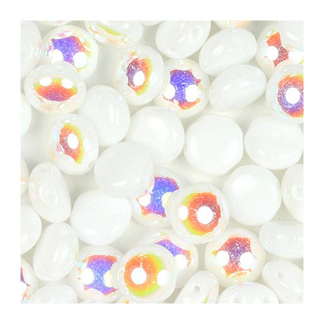 Candy Beads 8 mm Alabaster AB - 20 pz