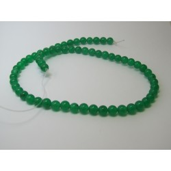 Jade Round Beads Dyed Green 6 mm - 10 pcs