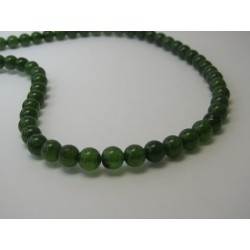 Jade Round Beads Dyed Olive-Green 6 mm - 10 pcs