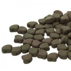 Ginkgo Leaf Bead 7,5 x 7,5 mm Matte Velvet Mushroom - 5 g